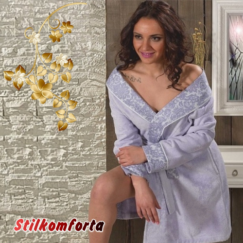 Бамбуковый халат женский Марина