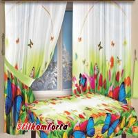 Комплект шторы и скатерть Итоми