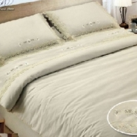 Свадебное постельное бельe сатин кружево Расана