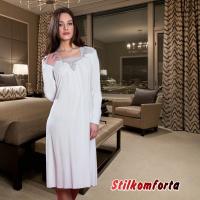 Женская ночная сорочка с длинным рукавом  Нирос