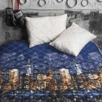 Набор покрывало и подушки Ночной город
