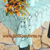 Вязанная скатерть на стол