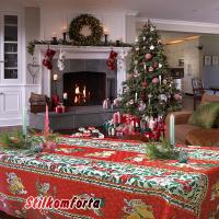Новогодняя скатерть Подарки