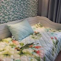 Одеяло покрывало и подушки бамбук комплект Цветы