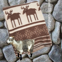 Одеяло жаккард овечья шерсть Олени