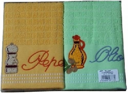 Махровые кухонные полотенца Эллизе .