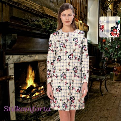 Теплый женский халат Клара