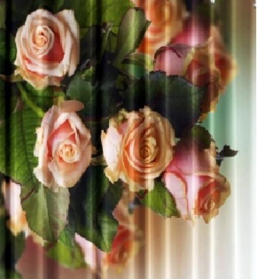 Текстильные шторки для ванной Рапсодия