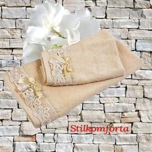 Набор махровых полотенец для ванной Мела