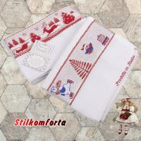 Новогодние полотенца махровые Мелани