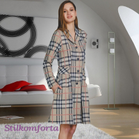 Теплый женский домашний халат Клерк