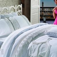 Свадебное постельное белье евро Гларина белый