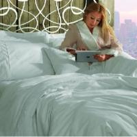 Белое элитное постельное белье Хелен