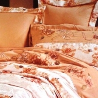 Постельное белье сатин с вышивкой  049