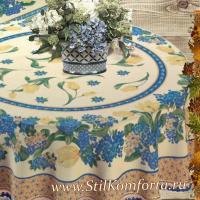 Скатерть гобеленовая Тулипан голубой