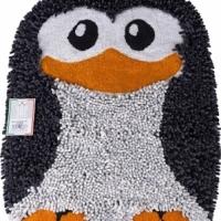 Фигурный прикроватный коврик Пингвик