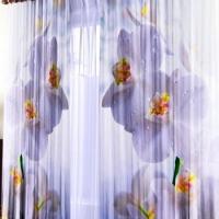Фотошторы с печатью Белые орхидеи