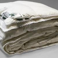 Одеяло белый пух с кружевом кассетное На счастье