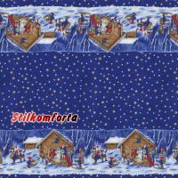 Новогодняя скатерть Волшебство синяя