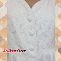 Короткий махровый женский халат и тапочки Ири-гул