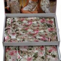 Комплект пеньюар и пижама 5 предметов Карра