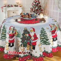 Новогодняя скатерть Дед Мороз