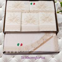 Свадебное постельное белье с покрывалом Ири
