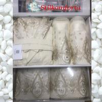 Набор махровых халатов, полотенца, папочки, аксессуары Каун 25 предметов