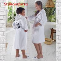 Халат для девочки махровый с капюшоном Лун