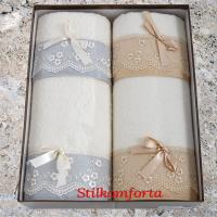 Махровые полотенца в подарочном наборе Помем